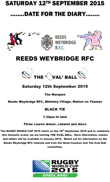 Reeds Weybridge Oval Ball 12 Sep 2015
