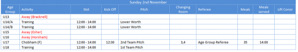 RWRFC Pitches and Times 2-11-14